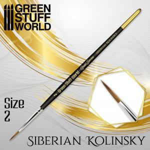Green Stuff World   Kolinsky Sable Brushes GOLD SERIES Siberian Kolinsky Brush - Size 2 - 8436574507188ES - 8436574507188