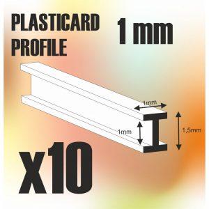 Green Stuff World   Plasticard ABS Plasticard - Profile DOUBLE-T 1 mm - 8436574505467ES - 8436574505467