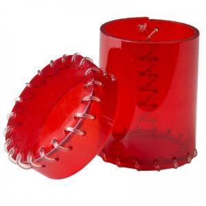 Q-Workshop   Q-Workshop Dice Age of Plastic Red Dice Cup (PVC) - CAOP143 - 5907699495634