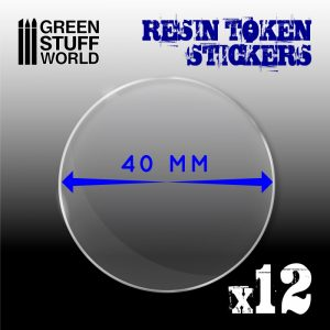 Green Stuff World   Infinity Tokens 12x Resin Token Stickers 40mm - 8436574503951ES - 8436574503951