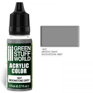 Green Stuff World   Acrylic Paints Acrylic Color MOONSTONE GREY - 8436574501964ES - 8436574501964