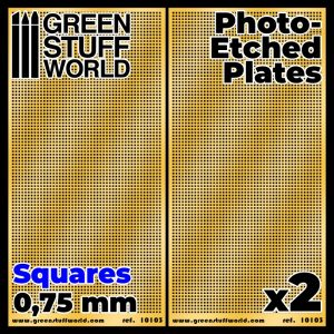 Green Stuff World   Etched Brass Photo-etched Plates - Medium Squares - 8436574506020ES - 8436574506020