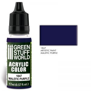 Green Stuff World   Acrylic Paints Acrylic Color MALEFIC PURPLE - 8436574502060ES - 8436574502060