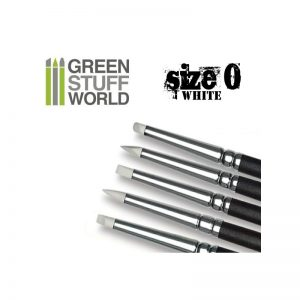Green Stuff World   Green Stuff World Tools Colour Shapers Brushes SIZE 0 - WHITE SOFT - 8436554360253ES - 8436554360253
