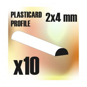 Green Stuff World   Plasticard ABS Plasticard - Profile SEMICIRCLE 4mm - 8436554366118ES - 8436554366118