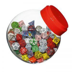 Q-Workshop   Q-Workshop Dice Jar of dice with D4, D6, D8, D10, D12, D20, D100 (150) - JMIX04 - 5907699491810