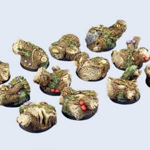 Micro Art Studio   Forest Bases Forest Bases, Round 25mm (5) - B00521 - 5905133597708