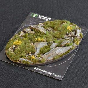 Gamers Grass   Battle-ready Highland Bases Highland Oval 170mm (x1) - GGB-HLO170 -