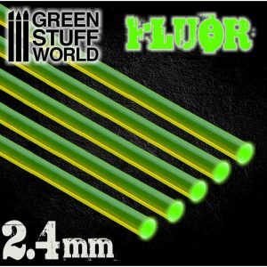 Green Stuff World   Acrylic Rods Acrylic Rods - Round 2.4 mm Fluor GREEN - 8436554367511ES - 8436554367511