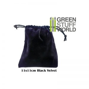Green Stuff World   Costume & Cosplay Velvet Black POUCH with Drawstrings - 8436554360994ES - 8436554360994