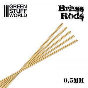 Green Stuff World   Brass Rods Pinning Brass Rods 0.5mm - 8436554367467ES - 8436554367467