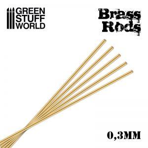 Green Stuff World   Brass Rods Pinning Brass Rods 0.3mm - 8436574507041ES - 8436574507041