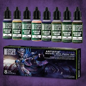 Green Stuff World   Paint Sets Paint Set - Malefic Skin - 8436574506211ES - 8436574506211