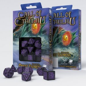 Q-Workshop   Q-Workshop Dice Call of Cthulhu Horror on the Orient Express Black & purple Dice Set (7) - SCTO51 - 5907699492824