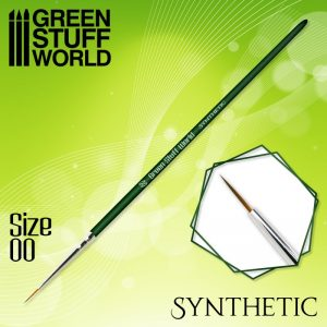Green Stuff World   Synthetic Brushes GREEN SERIES Synthetic Brush - Size 00 - 8436574506877ES - 8436574506877