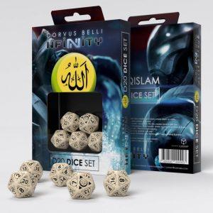Q-Workshop Infinity | Infinity RPG  Haqqislam Haqqislam D20 Dice Set - 285044 - 2850440000003