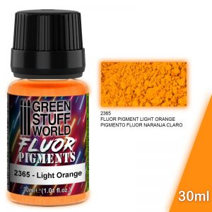 Green Stuff World   Fluorescent Pigments Pigment FLUOR LIGHT ORANGE - 8436574507249ES - 8436574507249