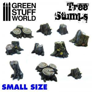Green Stuff World   Green Stuff World Conversion Parts Small Tree Stumps - 8436574500448ES - 8436574500448