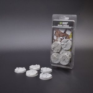 Gamers Grass   Temple Resin Bases Temple Bases Round 40mm (x5) - GGRB-TR40 - 738956789600