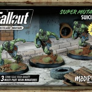 Modiphius Fallout: Wasteland Warfare  Fallout: Wasteland Warfare Fallout: Super Mutants Suiciders - MUH051240 - 5060523340293