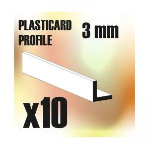 Green Stuff World   Plasticard ABS Plasticard - Profile ANGLE-L 3 mm - 8436554366231ES - 8436554366231