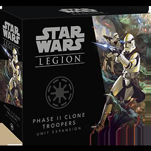 Fantasy Flight Games Star Wars: Legion  The Galactic Republic - Legion Star Wars Legion: Phase II Clone Troopers - FFGSWL61 - 841333110031