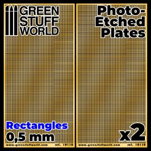 Green Stuff World   Etched Brass Photo-etched Plates - Small Rectangles - 8436574506099ES - 8436574506099