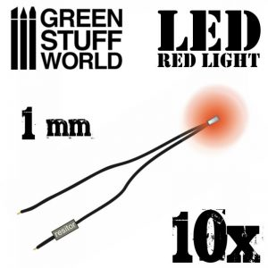 Green Stuff World   Lighting & LEDs Red LED Lights - 1mm - 8436554363841ES - 8436554363841