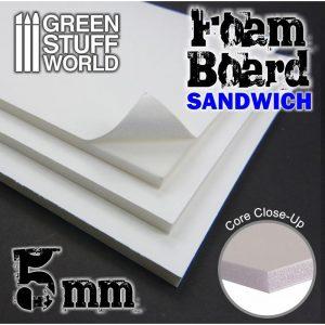 Green Stuff World   Foamboard Foamboard 5mm - 8436554368174ES - 8436554368174