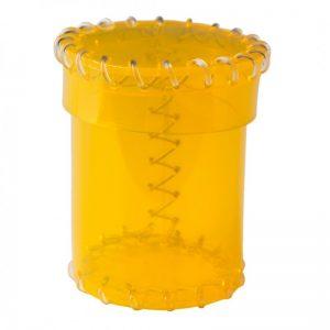 Q-Workshop   Q-Workshop Dice Age of Plastic Yellow Dice Cup (PVC) - CAOP142 - 5907699495641
