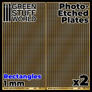 Green Stuff World   Etched Brass Photo-etched Plates - Large Rectangles - 8436574506112ES - 8436574506112