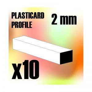 Green Stuff World   Plasticard ABS Plasticard - Profile SQUARED ROD 2 mm - 8436554366927ES - 8436554366927