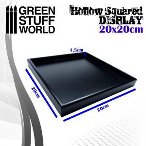 Green Stuff World   Display Plinths Hollow squared display 20x20 cm Black - 8436574503753ES - 8436574503753
