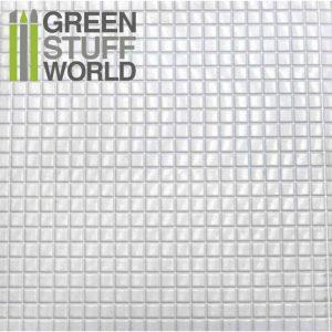 Green Stuff World   Plasticard ABS Plasticard - MEDIUM SQUARES Textured Sheet - A4 - 8436554361038ES - 8436554361038