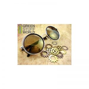 Green Stuff World   Costume & Cosplay Retro SteamPunk goggles - GOLD frame - 8436554360864ES - 8436554360864