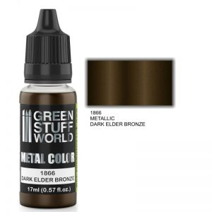 Green Stuff World   Acrylic Metallics Metallic Paint DARK ELDER BRONZE - 8436574502251ES - 8436574502251