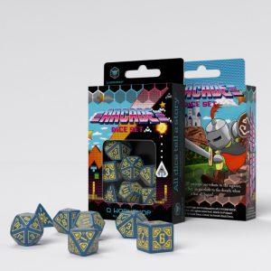 Q-Workshop   Arcade Arcade Blue & Yellow Dice Set (7) - SARC1E - 5907699493944