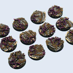 Micro Art Studio   Dark Temple Bases Dark Temple Bases, Round 25mm (5) - B02221 - 5900232351039