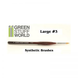 Green Stuff World   Synthetic Brushes Brushes Large 3  Synthetic - 8436554360512ES - GSWLSYNTH3