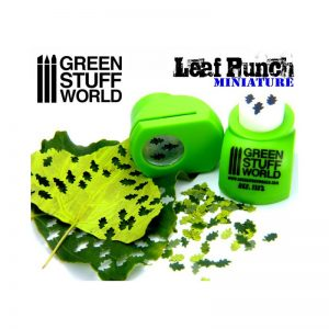 Green Stuff World   Stamps & Punches Miniature Leaf Punch LIGHT GREEN - 8436554363124ES - 8436554363124