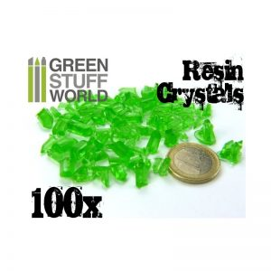 Green Stuff World   Green Stuff World Conversion Parts GREEN Resin Crystals - 8436554362837ES - 8436554362837
