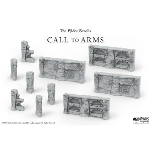 Modiphius (Direct) The Elder Scrolls: Call to Arms  The Elder Scrolls: Call To Arms The Elder Scrolls: Call to Arms Nord Tomb Walls Terrain Set - MUH052055 - 5060523343362