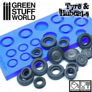 Green Stuff World   Mold Making Silicone Molds - Tyres and Hubcaps - 8436574504019ES - 8436574504019