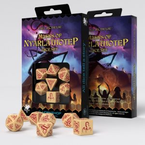 Q-Workshop   Q-Workshop Dice Call of Cthulhu Masks of Nyarlathotep Dice Set (7) - SCTX1N - 5907699494026