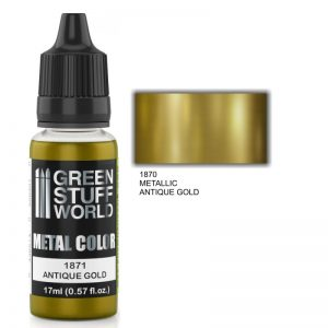 Green Stuff World   Acrylic Metallics Metallic Paint ANTIQUE GOLD - 8436574502305ES - 8436574502305