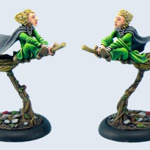 Micro Art Studio   Discworld Miniatures Discworld Magrat on broom (1) - D02600 - 5900232352272