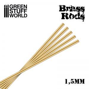 Green Stuff World   Brass Rods Pinning Brass Rods 1.5mm - 8436554367177ES - 8436554367177