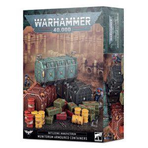 Games Workshop   40k Terrain Battlezone: Manufactorum – Munitorum Armoured Containers - 99120199092 - 5011921155132