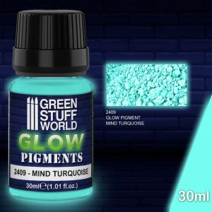 Green Stuff World   Glow in the Dark Pigments Glow in the Dark Pigment - MIND TURQUOISE - 8436574507683ES - 8436574507683