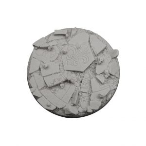 Micro Art Studio   Ruined Chapel Bases Ruined Chapel Bases, Round 90mm (1) - B05509 -